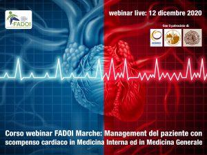 FAD FADOI Marche | Management del paziente con scompenso cardiaco in Medicina Interna ed in Medicina Generale @ WEBINAR LIVE